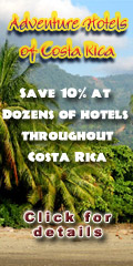 The Adventure Hotel Association of Costa Rica -- find small friendly B&B's, historic city hotels, yoga and wellness spas, sport fishing resorts on the beach, and volcano lodges.